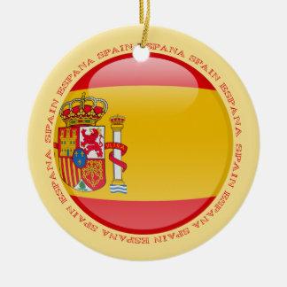 Spain Bubble Flag Christmas Ornament