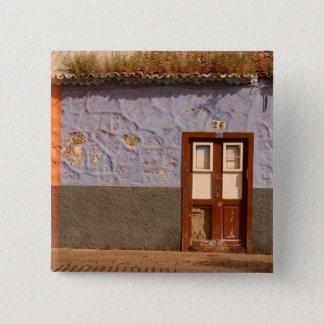 Spain, Canary Islands, Tenerife, villa 15 Cm Square Badge
