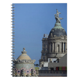 Spain, Catalonia, Barcelona. Barcelona roof top 2 Notebooks