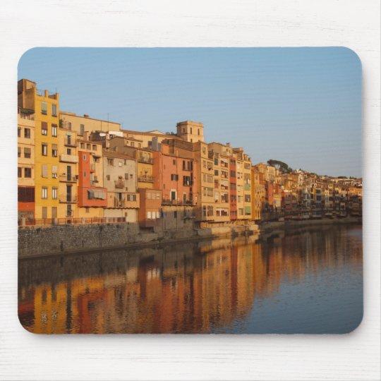 Spain. Catalonia. Gerona. Houses on the Onyar Mouse Mat