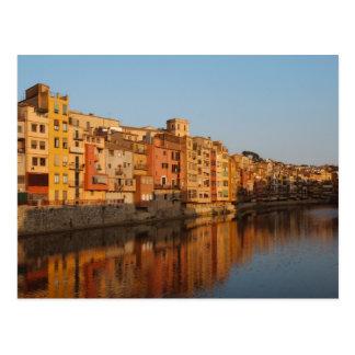 Spain. Catalonia. Gerona. Houses on the Onyar Postcard