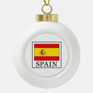 Spain Ceramic Ball Christmas Ornament