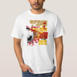 Spain Champions 1964 2008 2012 Euro Cup Winners T-Shirt