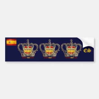 Spain Champions of Europe Euro 2012 Kings Bumper Sticker