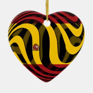 Heart Shaped Spain Ceramic Decorations - Heart Shaped Spain Tree ...