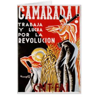 Spain civil war CNT-FAI original poster 1936 Card