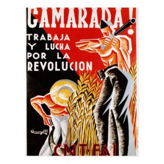 Spain civil war CNT-FAI original poster 1936 Postcard