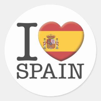 Spain Classic Round Sticker