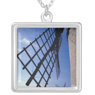 Spain, Consuegra, Castile-La Mancha Windmills Silver Plated Necklace