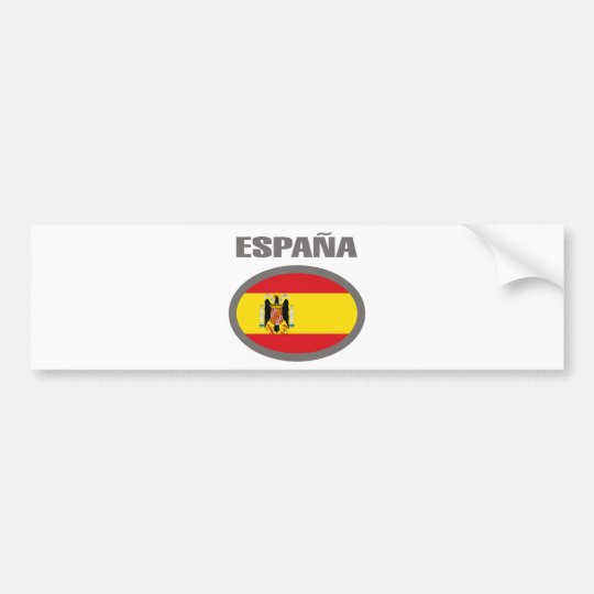 Spain Cool Flag Design! Bumper Sticker