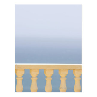 Spain, Costa Blanca, View of sea over balustrade Postcard