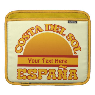 SPAIN Costa Del Sol custom iPad sleeve