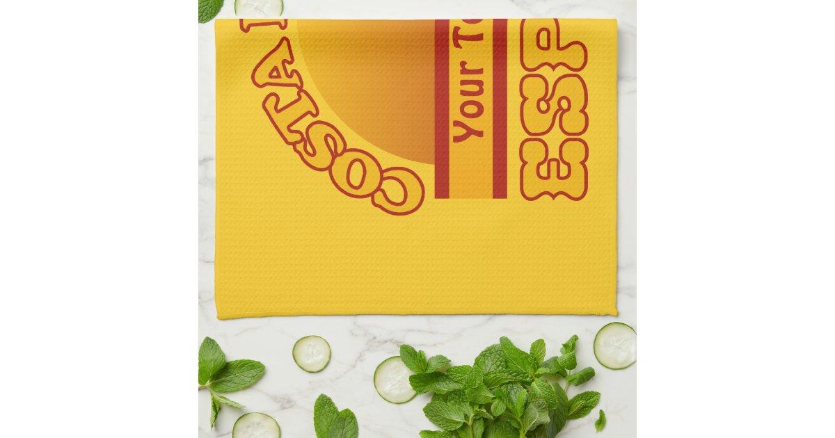 Spain Costa Del Sol Custom Kitchen Towels Zazzle