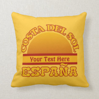 SPAIN Costa Del Sol custom throw pillow