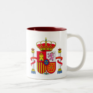 Spain emblem Two-Tone coffee mug