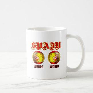 Spain Europe World Spanish flag soccer balls Mug
