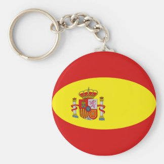 Spain Fisheye Flag Keychain