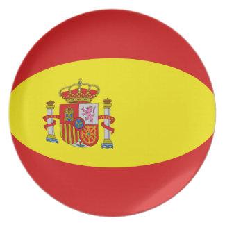 Spain Fisheye Flag Plate