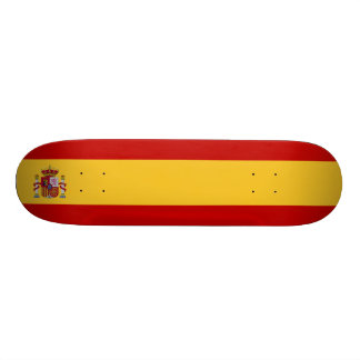 Spain Flag 21.3 Cm Mini Skateboard Deck