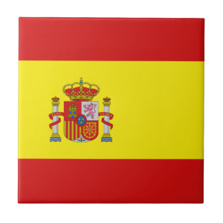 Spain Flag Ceramic Tile