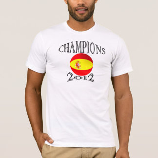 Spain flag champions 2012 football soccer tshirt