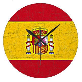 SPAIN FLAG Clock