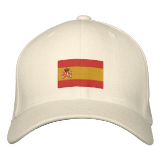 Spain flag embroidered flexfit wool hat