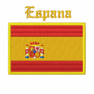 Spain Flag Embroidered Ladies Polo