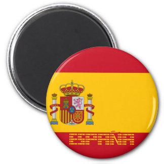 Spain - Flag / España - Bandera 6 Cm Round Magnet