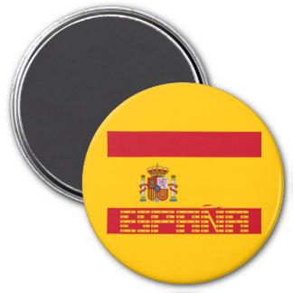 Spain - Flag / España - Bandera 7.5 Cm Round Magnet