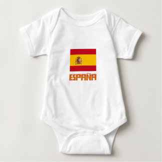 Spain - Flag / España - Bandera Baby Bodysuit