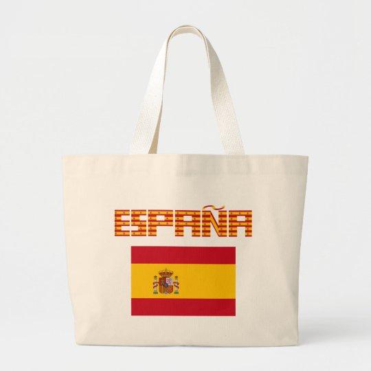 Spain - Flag / España - Bandera Large Tote Bag