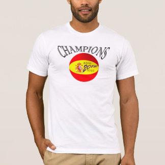 Spain flag football champions tshirt