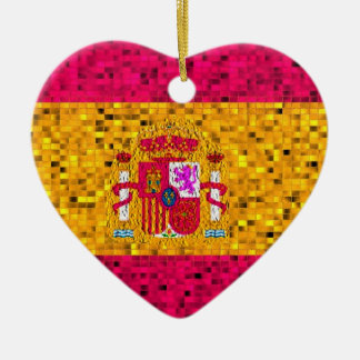 Spain Flag glitter ornament