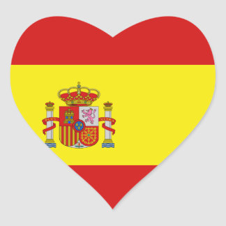 Spain Flag Heart Sticker