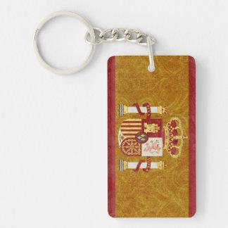 Spain Flag Key Chain Souvenir