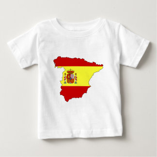 Spain flag map baby T-Shirt