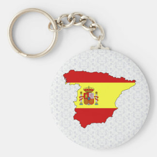 Spain Flag Map full size Key Ring