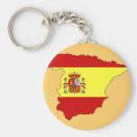 Spain flag map key chains