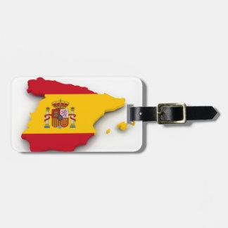 Spain Flag Map Luggage Tag