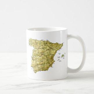 Spain Flag ~ Map Mug