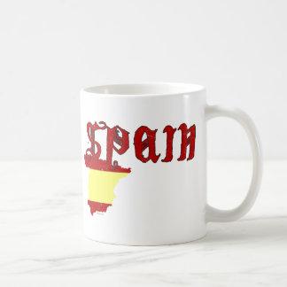 Spain Flag Map Mug