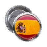 Spain flag Modern emblem badge for proud Spaniards Pinback Buttons