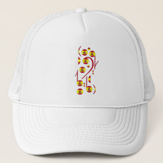 Spain Flag Musical Notes Trucker Hat