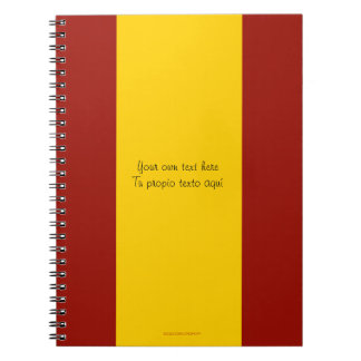 Spain Flag Notebook