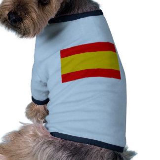 Spain flag pet t-shirt