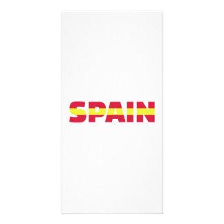 Spain flag customized photo card