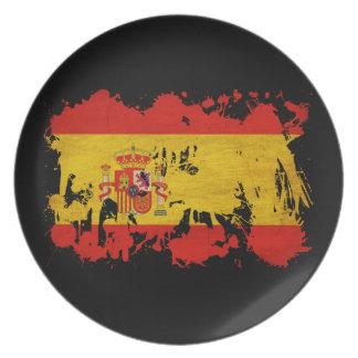 Spain Flag Plate