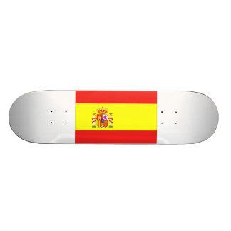 Spain Flag Skateboard