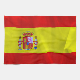 Spain Flag Tea Towel